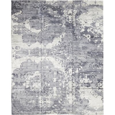 One-of-a-Kind Eldredge Hand-Knotted Wool Blue Area Rug