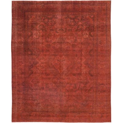 One-of-a-Kind Henstra Hand-Knotted Wool Red Area Rug