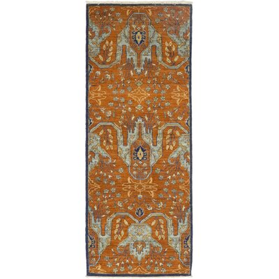 One-of-a-Kind Cort Hand-Knotted Wool Orange Area Rug