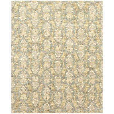 One-of-a-Kind Elderton Hand-Knotted Wool Gray/Yellow Area Rug
