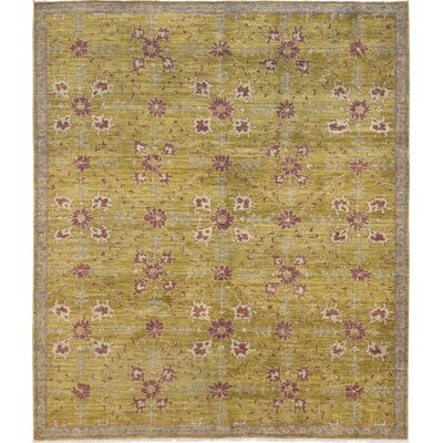 One-of-a-Kind Corrado Hand-Knotted Wool Yellow Area Rug