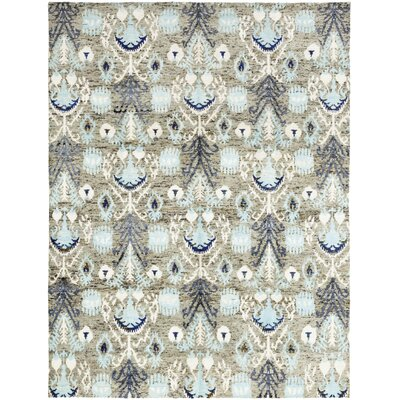One-of-a-Kind Loyalton Hand-Knotted Wool Blue Area Rug