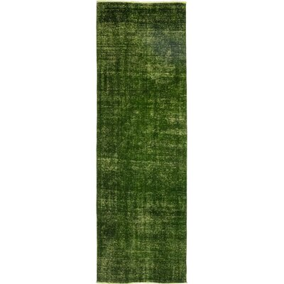 One-of-a-Kind Thepenier Hand-Knotted Wool Green Area Rug