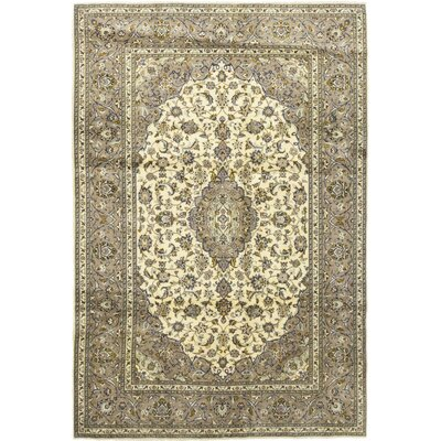 One-of-a-Kind Cornelio Hand-Knotted Wool Beige Area Rug