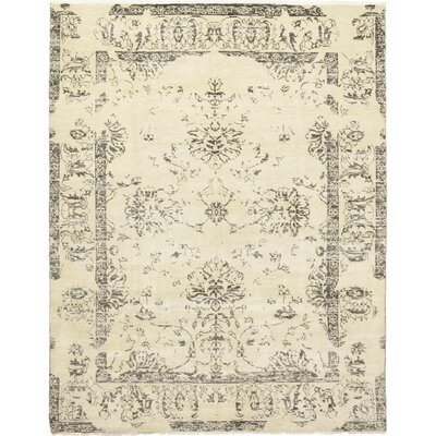 One-of-a-Kind Bayonville Hand-Knotted Wool Ivory Area Rug