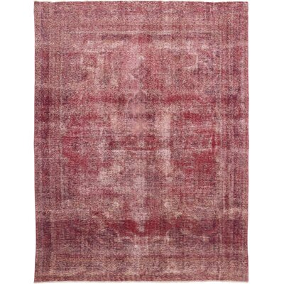One-of-a-Kind Hillsborough Hand-Knotted Wool Pink Area Rug