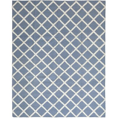 One-of-a-Kind Ellender Hand-Knotted Wool Blue Area Rug