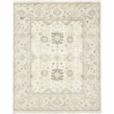 One-of-a-Kind Hein Hand-Knotted Wool Ivory Area Rug