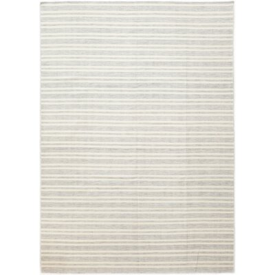 One-of-a-Kind Missenden Hand-Knotted Wool White/Gray Area Rug