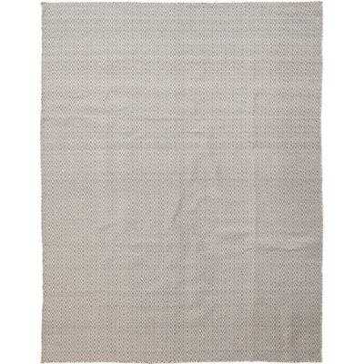 One-of-a-Kind Lentini Hand-Knotted White/Gray Area Rug
