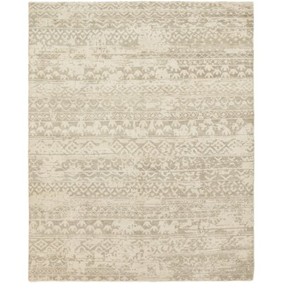 One-of-a-Kind Dominique Hand-Knotted Wool Beige Area Rug