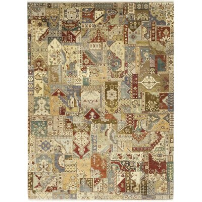 One-of-a-Kind Newry Hand-Knotted Wool Beige/Red Area Rug