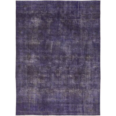 One-of-a-Kind Eslamy Hand-Knotted Wool Purple Area Rug