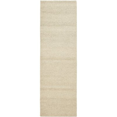 One-of-a-Kind Montreux Hand-Knotted Wool Beige Area Rug