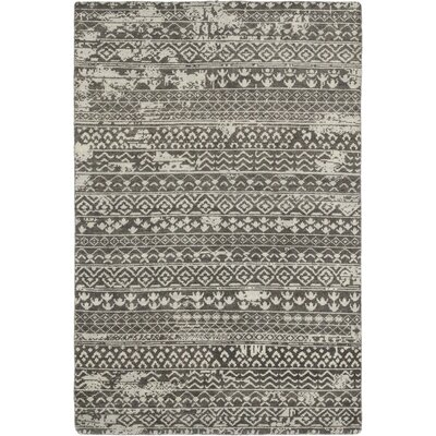 One-of-a-Kind Dolton Hand-Knotted Wool Gray Area Rug
