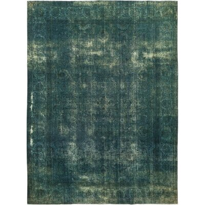 One-of-a-Kind Kley Hand-Knotted Wool Green Area Rug