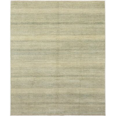 One-of-a-Kind Diederich Hand-Knotted Wool Beige/Green Area Rug