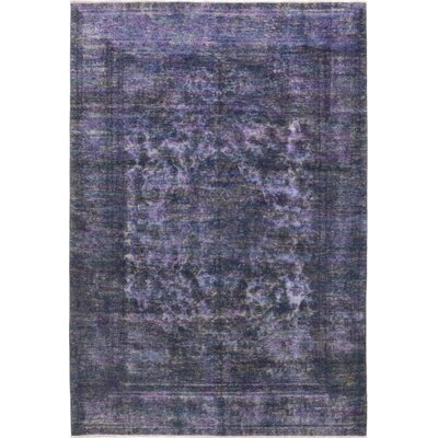 One-of-a-Kind Dubon-Claros Hand-Knotted Wool Purple Area Rug