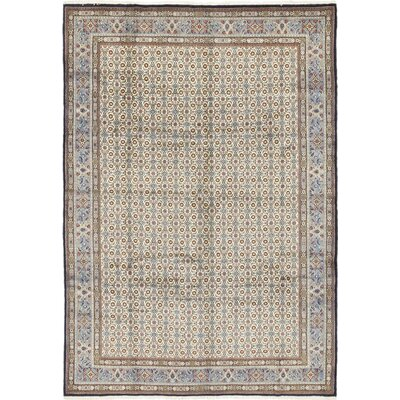 One-of-a-Kind Heggins Hand-Knotted Wool Blue Area Rug