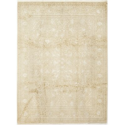 One-of-a-Kind Islemade Hand-Knotted Beige Area Rug