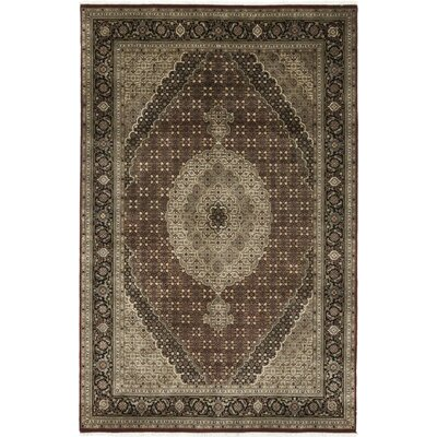 One-of-a-Kind Cortland Hand-Knotted Wool Black Area Rug