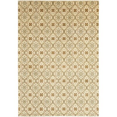 One-of-a-Kind Mulrey Hand-Knotted Wool Beige Area Rug