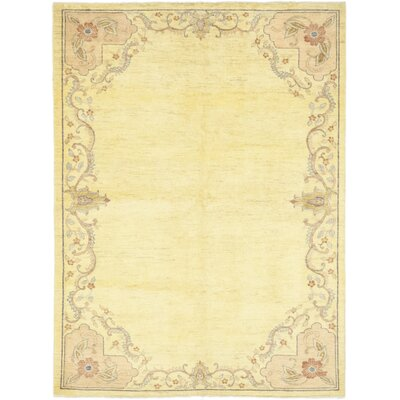One-of-a-Kind Cowley Hand-Knotted Wool Beige Area Rug
