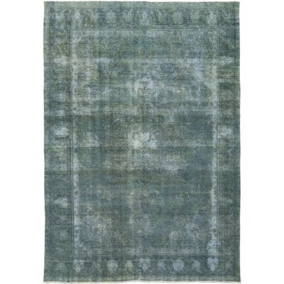 One-of-a-Kind Wolfgramm Hand-Knotted Wool Blue Area Rug
