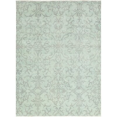 One-of-a-Kind Castelnaud Hand-Knotted Wool Green Area Rug