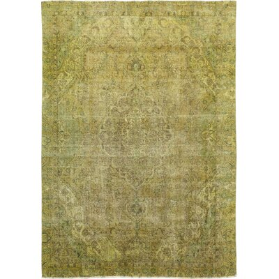 One-of-a-Kind Stocchetti Hand-Knotted Wool Green Area Rug