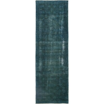 One-of-a-Kind Nicoma Park Hand-Knotted Wool Blue Area Rug