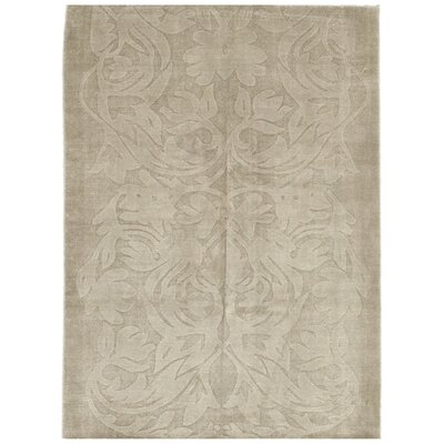 One-of-a-Kind Loughton Hand-Knotted Silk Brown Area Rug