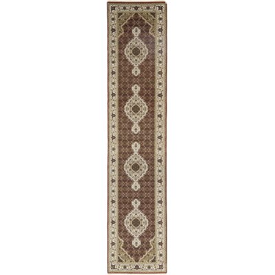 One-of-a-Kind Cortland Hand-Knotted Wool Brown Area Rug