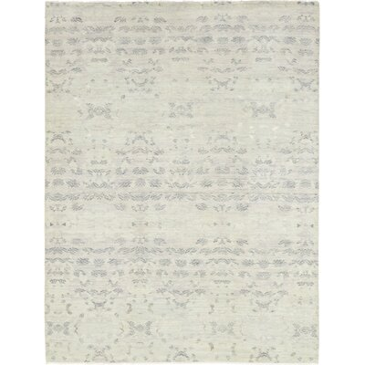 One-of-a-Kind Mullett Hand-Knotted Wool Gray Area Rug