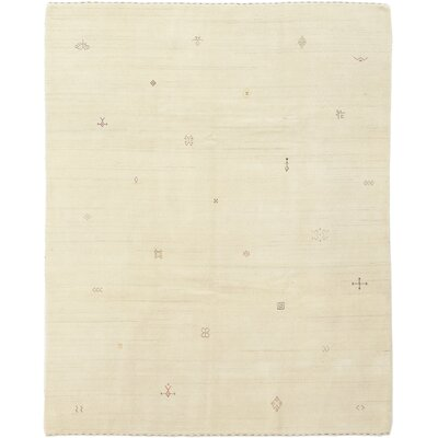 One-of-a-Kind Dimmick Hand-Knotted Wool Beige Area Rug