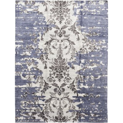 One-of-a-Kind Finnerty Hand-Knotted Wool Blue Area Rug