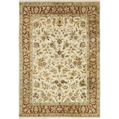 One-of-a-Kind Corrado Hand-Knotted Beige Area Rug