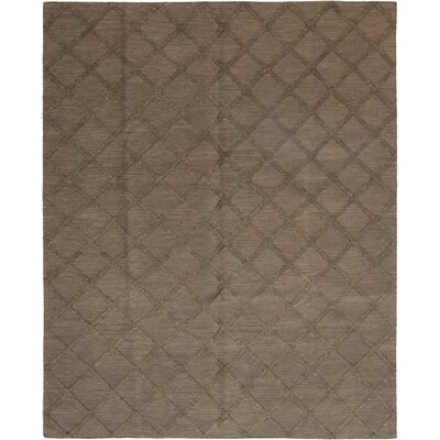 One-of-a-Kind Leming Hand-Knotted Wool Brown Area Rug