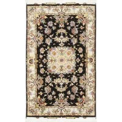 One-of-a-Kind Costigan Hand-Knotted Wool Black Area Rug