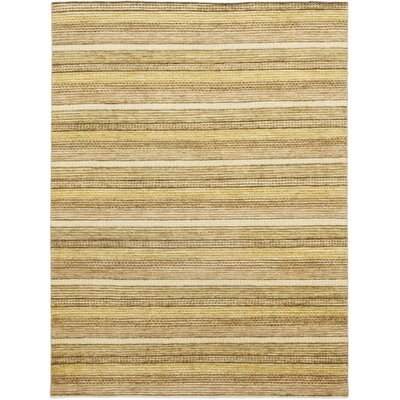 One-of-a-Kind Kostka Hand-Knotted Wool Beige Area Rug