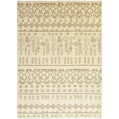 One-of-a-Kind Chelmsford Hand-Knotted Wool Beige Area Rug