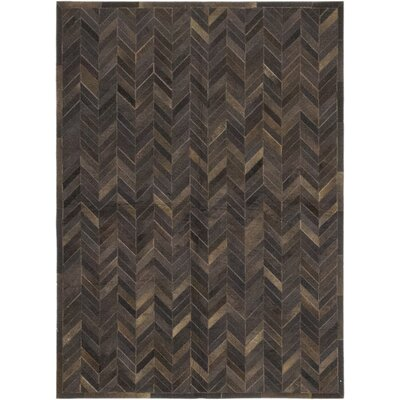One-of-a-Kind Dodge Hand-Woven Cowhide Brown Area Rug