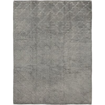 One-of-a-Kind Dillard Hand-Knotted Wool Gray Area Rug