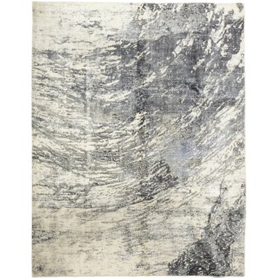 One-of-a-Kind Elizalde Hand-Knotted Wool Gray Area Rug