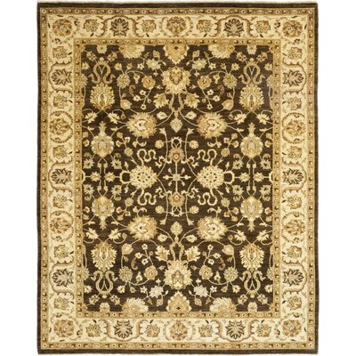 One-of-a-Kind Dionne Hand-Knotted Wool Brown Area Rug