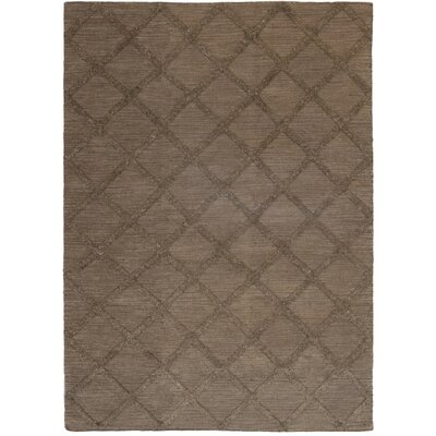 One-of-a-Kind Emborough Hand-Knotted Wool Brown Area Rug