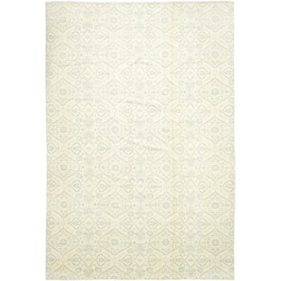 One-of-a-Kind Northolt Hand-Knotted Wool Beige Area Rug
