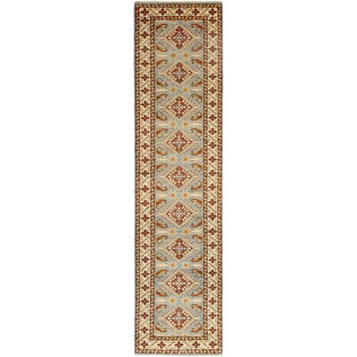 One-of-a-Kind Little Nell Hand-Knotted Wool Brown/Blue Area Rug