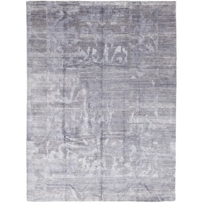 One-of-a-Kind Latrobe Hand-Knotted Wool Blue Area Rug