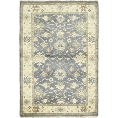 One-of-a-Kind Dionne Hand-Knotted Wool Blue Area Rug
